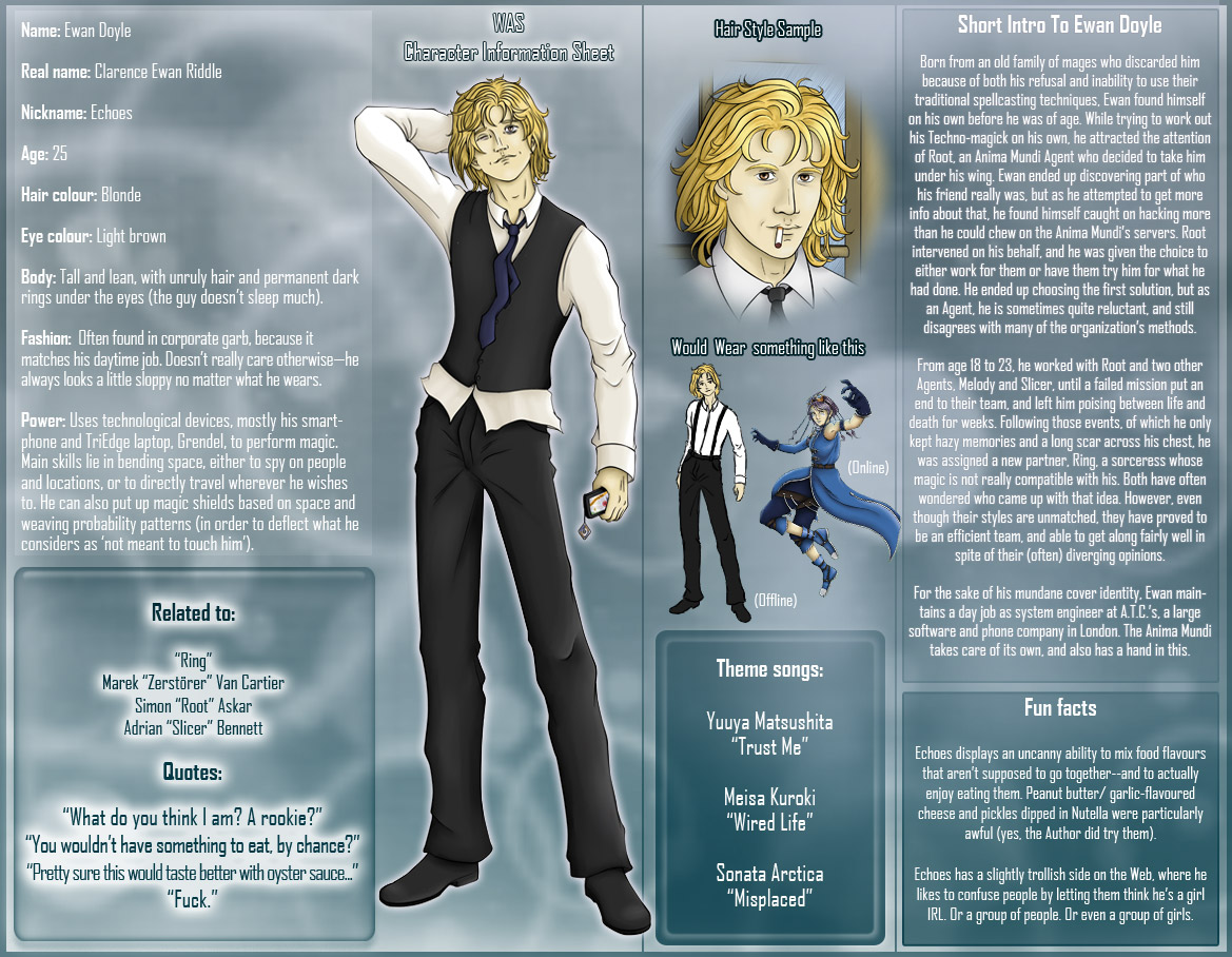 Character sheet: Echoes